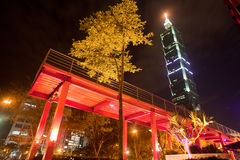 Night scenes of the Taipei city, Taiwan Royalty Free Stock Images
