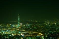 Night scenes of the Taipei city, Taiwan Royalty Free Stock Photo