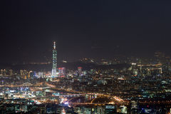 Night scenes of the Taipei city, Taiwan Royalty Free Stock Photography