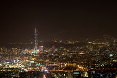 Night scenes of the Taipei city, Taiwan Stock Photography
