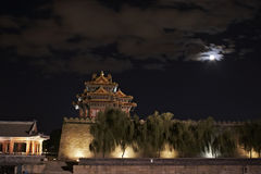 Night scenes  of the turret of the Imperial Palace Royalty Free Stock Image