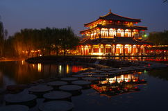 China architecture night Royalty Free Stock Photos
