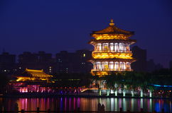 China architecture night Royalty Free Stock Image