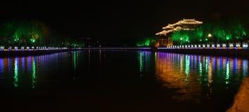 Night scenes of Yangzhou. Night scenes of grand canal. Yangzhou. China Royalty Free Stock Image