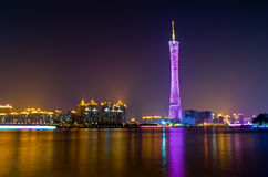 The night scenic of Guangzhou. Stock Images
