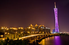 The night scenic of Guangzhou. Stock Image