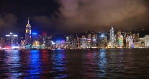 The night scenic of Hong kong Royalty Free Stock Photo