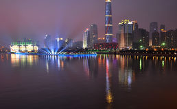 The night scenic of prosperous Guangzhou Royalty Free Stock Photo