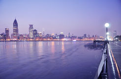 The night scenic of Shanghai royalty free stock image