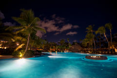 Night scenic view of five stars hotel Stock Images