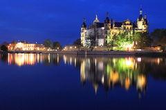 Night in Schwerin Stock Photography