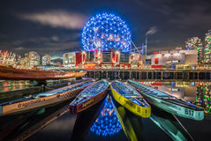 Night-Science world Vancovuer Royalty Free Stock Images