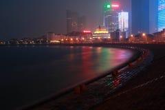 Night of the sea. Night Scenery of Qingdao sea Royalty Free Stock Image