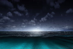 Night sea Royalty Free Stock Images
