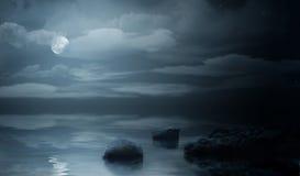 Night sea stock photography