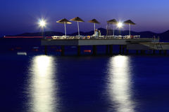 Night sea view Royalty Free Stock Photo