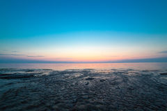 Night sea water Stock Photography