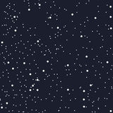 Night seamless pattern for textile or paper as the starry night sky. The space of the cosmos. The darkness of the galaxy. Vector Stock Photography
