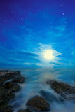 Night seascape Stock Photos