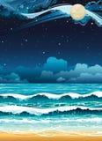 Night seascape. Stock Image