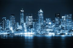 Night in the Seattle Stock Photos