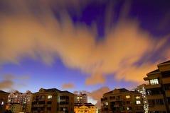 Night secene of community. With blue sky Stock Photos