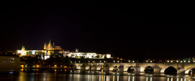 Night seen in Prague Royalty Free Stock Photography