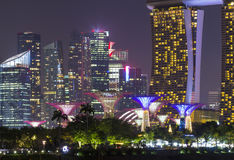 Night seen in Singapore landmark at travel zone Stock Photo