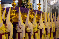 Night during Semana Santa in Murcia Stock Images