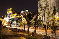 Night sence at shanghai bund Stock Photo