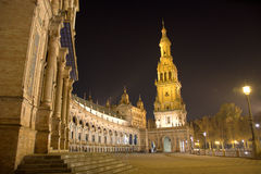 Night in Sevilla in easterweek and Feria de Abril Stock Image