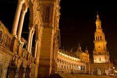 Night in Sevilla in Feria de Abril Royalty Free Stock Photos