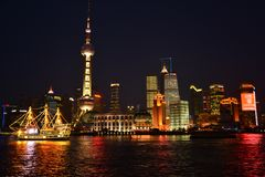 Night of Shanghai Stock Image