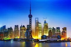 The night of shanghai Stock Images