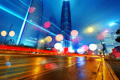 The night of shanghai Stock Image