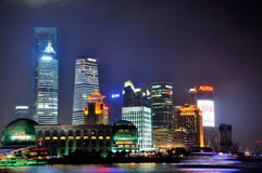 Night of Shanghai new business center, China Stock Photos