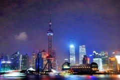 Night of Shanghai Pu-dong, China Royalty Free Stock Images