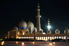 Night Sheikh Zayed Mosque in Abu Dhab Stock Photos