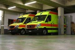 The night shift: emergency ambulance service Royalty Free Stock Image