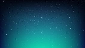 Night Shining Starry Sky, Blue Space Background With Stars Stock Photo