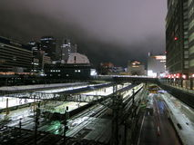 Night at Shinjuku Station Royalty Free Stock Images