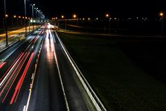 Free Night Shooting Road. At Night The City Lights Up. Lighting Of The Motorway. Stock Images - 123984884