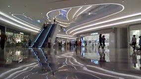 Shenzhen, China: Night Shopping Center indoor landscape stock video footage
