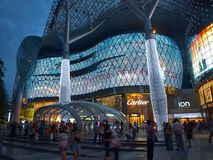 Night Shopping in Singapore stock photography