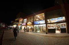 Night shops on Sheraton street in Hurghada. Egypt Royalty Free Stock Images