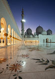 Night Shot from Abu Dhabi Sheikh Zayed Mosque Stock Image