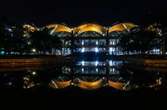 Night shot of the airport. Long exposure shot of the airport Stock Photography