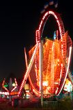Night shot of amusement park Royalty Free Stock Photography