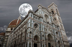 Night shot of Basilica of Santa Maria del Fiore (Basilica of Saint Mary of the Flower) in Florence, Italy Stock Photo