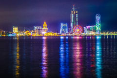 Night shot batumi georgia Royalty Free Stock Photo